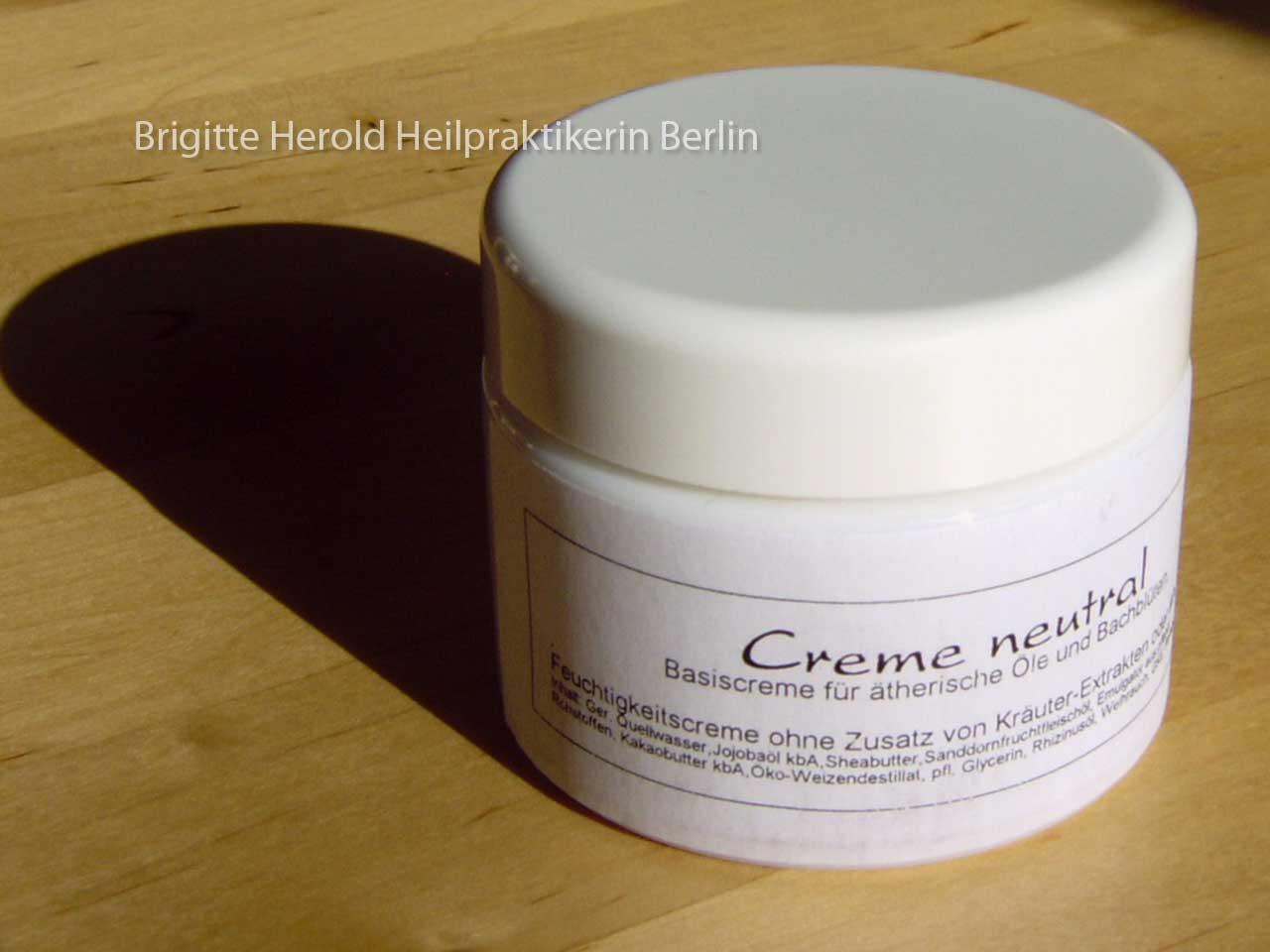 Bachblüten-Creme zur Behandlung der Bachblüten-Hautzonen